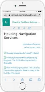 Alameda Care Connect Elemeno Housing Navigator